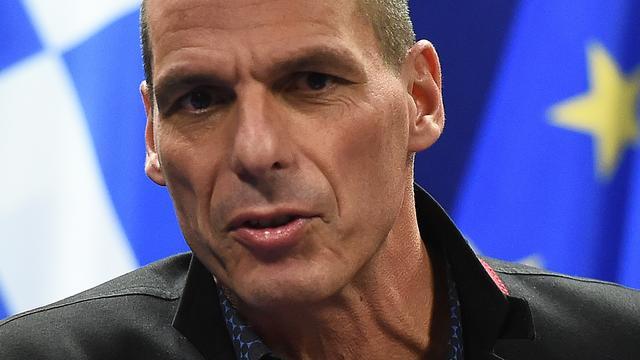 Varoufakis spreekt Europees Commissaris Moscovici