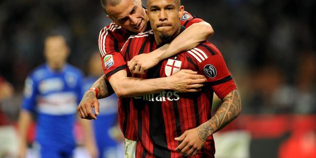Nigel de Jong redt punt voor AC Milan met omhaal