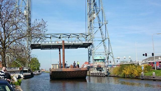 Hefbrug Waddinxveen woensdagavond weer open