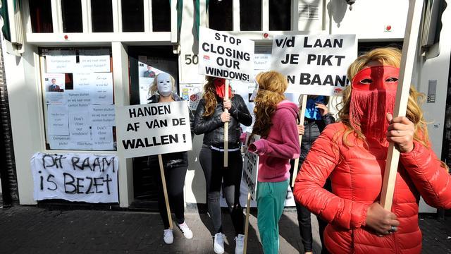 Prostituees bezetten panden op Amsterdamse Wallen