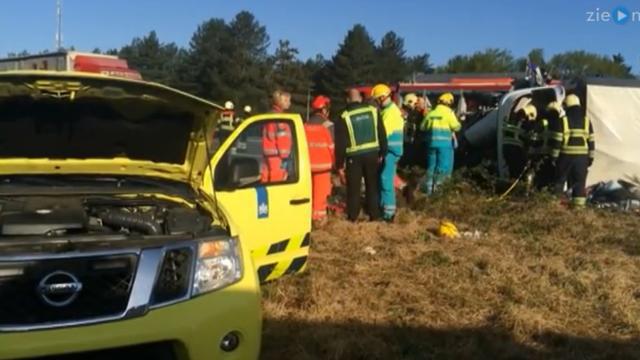 Eerste beelden ernstig ongeval A67