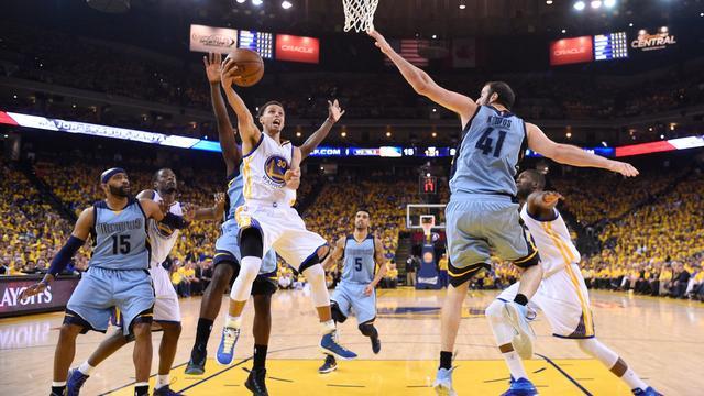 Grizzlies op gelijke hoogte met Warriors in play-offs NBA
