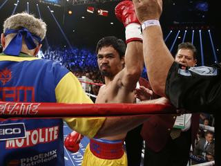 Twee inwoners Nevada slepen Filippijnse bokser voor rechter