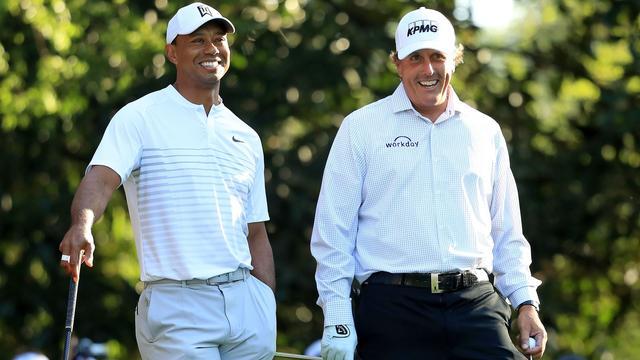 Woods en Mickelson onderhandelen over onderling 'miljoenenduel'