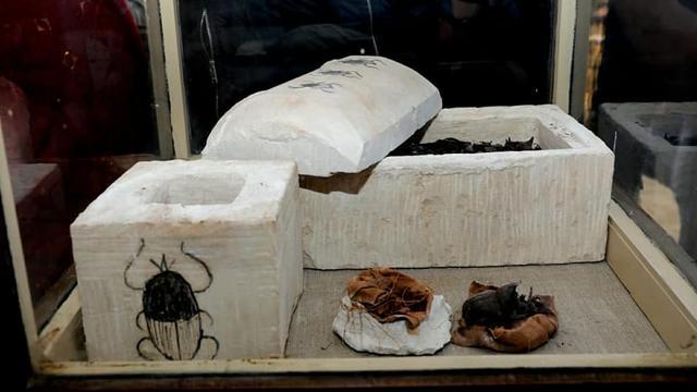 Archeologen in Egypte vinden gemummificeerde mestkevers