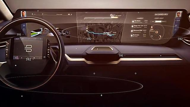Chinese startup Byton maakt auto met groot touchscreen in dashboard