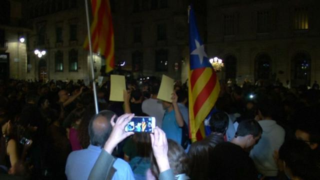 Catalanen demonstreren tegen arrestatie seperatistenleiders