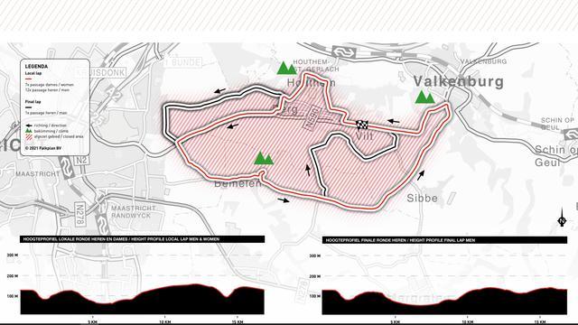 Het lokale circuit waarop dit jaar de Amstel Gold Race wordt verreden.