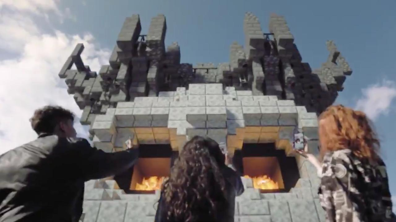 Minecraft Earth werkt met augmented reality