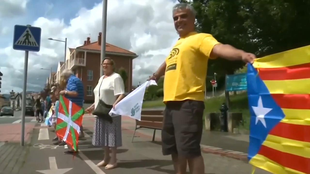 Menselijke keten voor onafhankelijk Baskenland