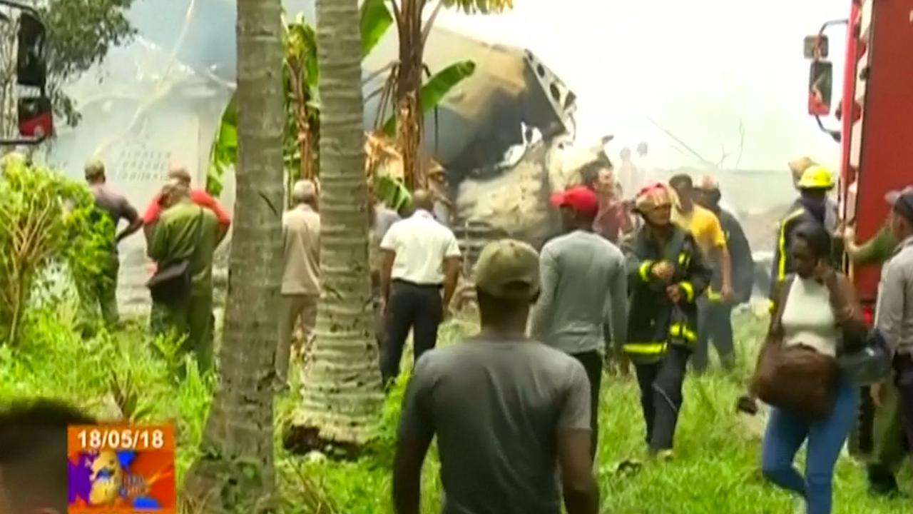 Hulpdiensten ter plaatse bij neergestort vliegtuig in Cuba