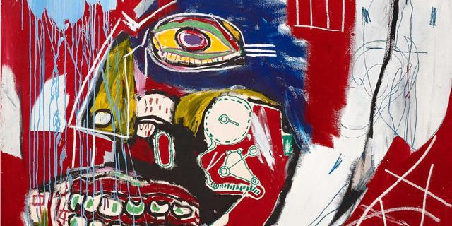 Veilinghuis Christie's hamert Basquiat-schilderij af op bijna 77 miljoen euro