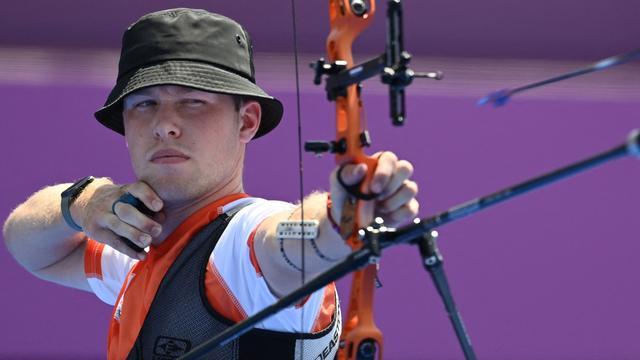 Gijs Broeksma was dicht bij een plek in de kwartfinales.