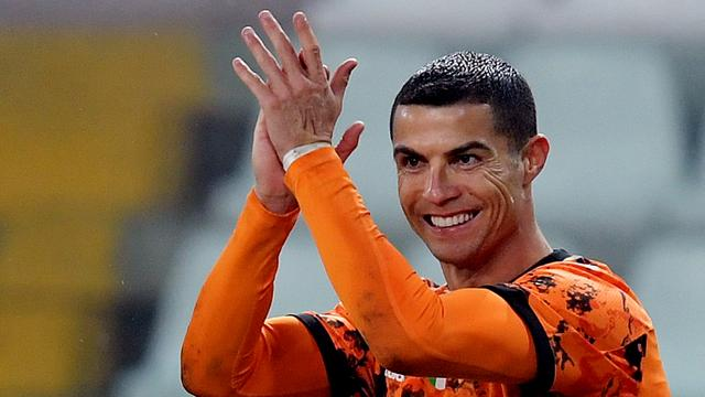 Cristiano Ronaldo scoorde tweemaal voor Juventus.