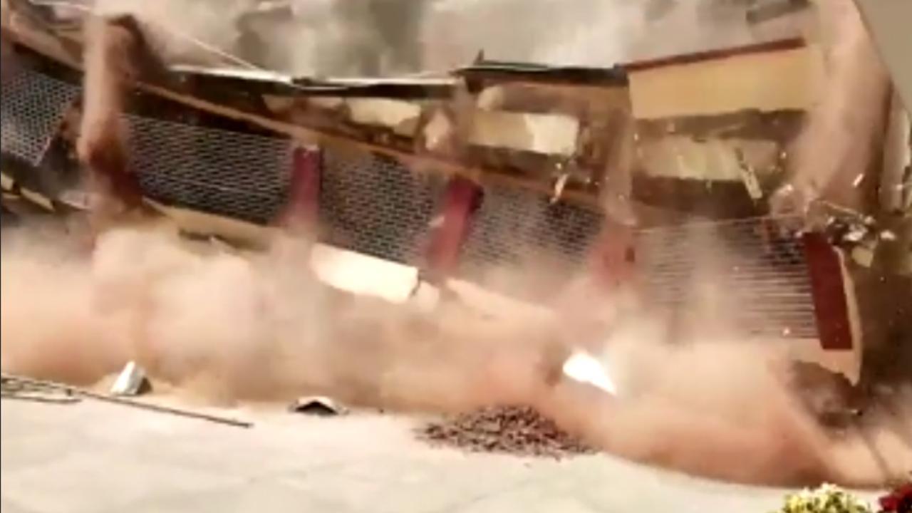 Deel van schoolgebouw India stort in