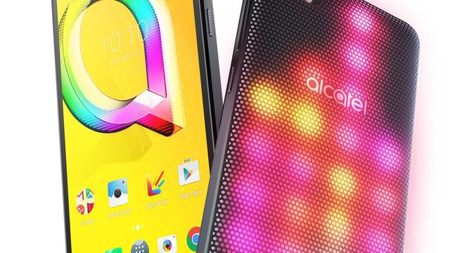 Alcatel onthult smartphone met verwisselbare LED-cover