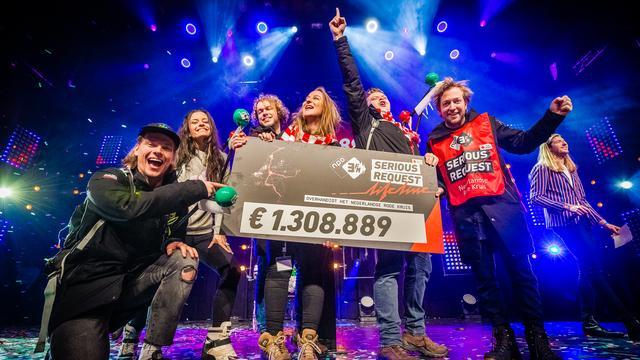 Actie 3FM Serious Request: Lifeline haalt 1,3 miljoen euro op