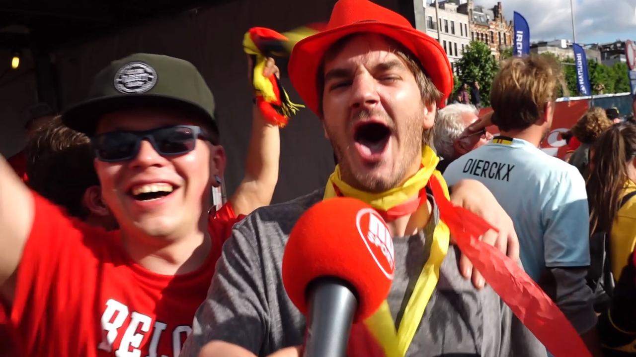 Belgische fans uitzinnig van vreugde na winst op Panama
