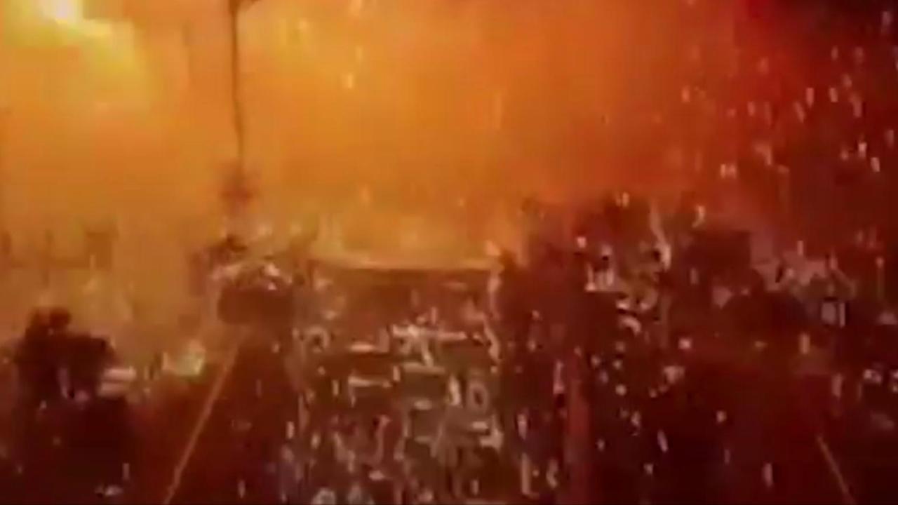 Bewakingscamera filmt explosie Ankara