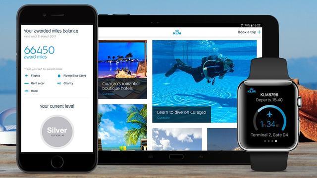 KLM verwerkt Airbnb en Uber in vernieuwde app