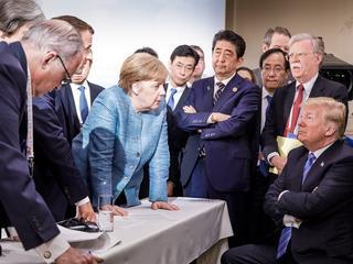 Verhoudingen VS en overige landen G7 op scherp
