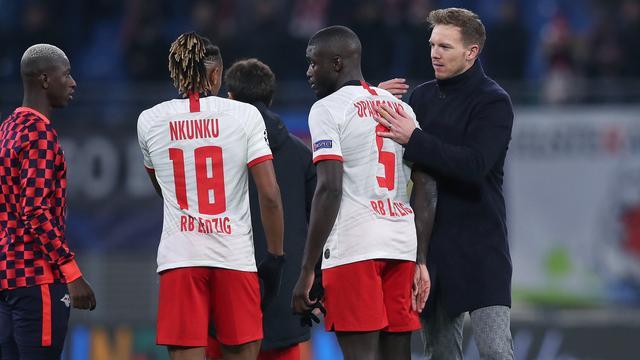 Verdediger Dayot Upamecano en trainer Julian Nagelsmann verruilen komende zomer RB Leipzig voor Bayern München.
