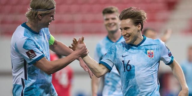Oranje-opponent Noorwegen wint mede dankzij AZ-spelers ruim van Gibraltar