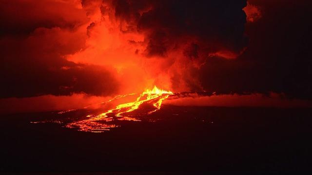 Vulkaan uitgebarsten op Galapagoseilanden