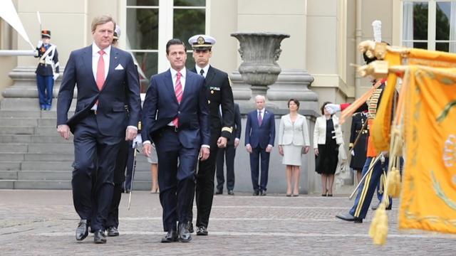 Koning ontvangt Mexicaanse president bij Paleis Noordeinde