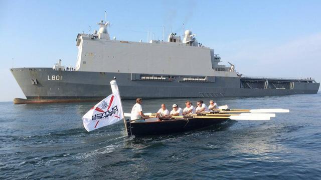 Oud-mariniers roeien via Rotterdam en Vlissingen naar Londen