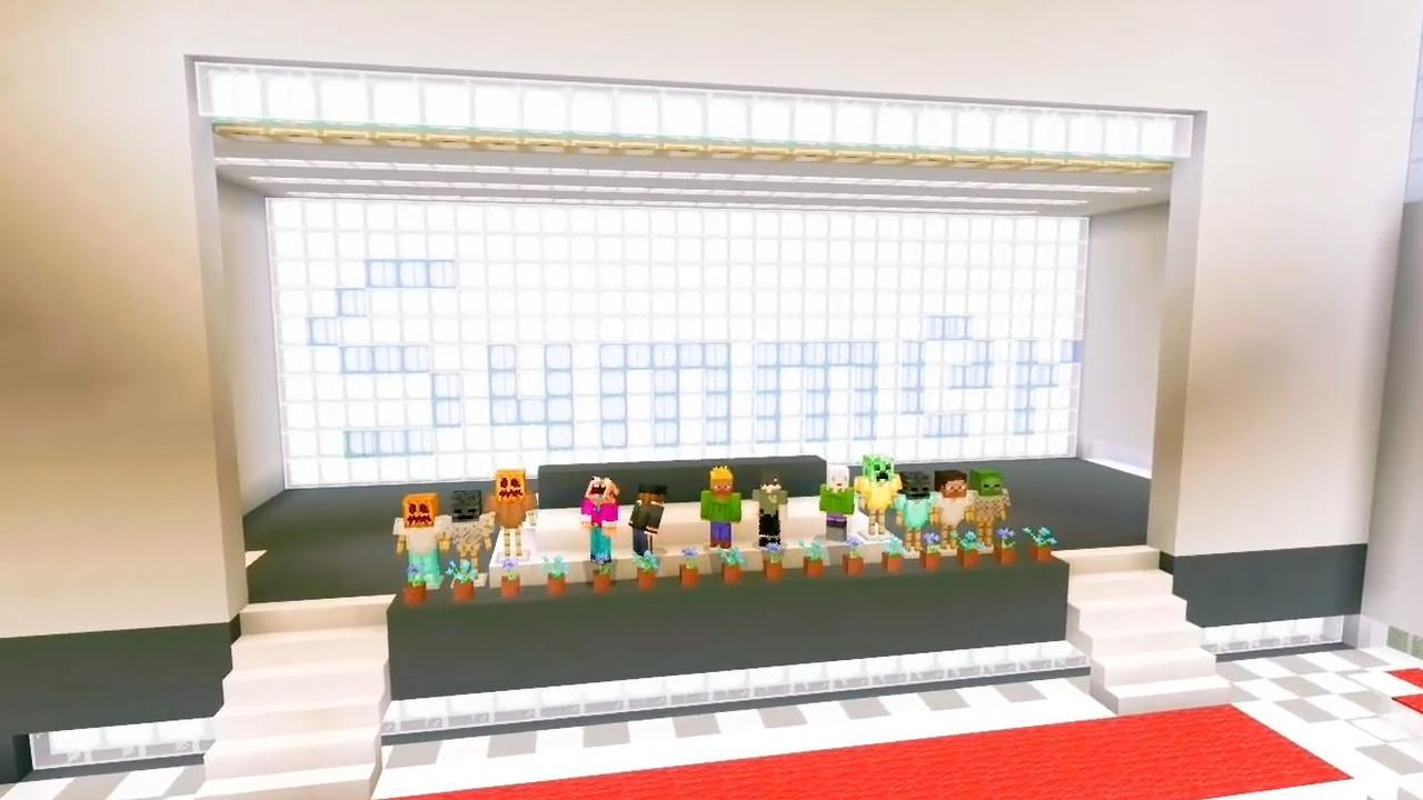 Japanse basisschoolkinderen houden diploma-uitreiking in Minecraft