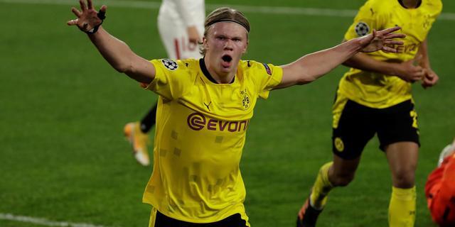 Haaland dirigeert Dortmund met twee goals en assist langs Sevilla in CL