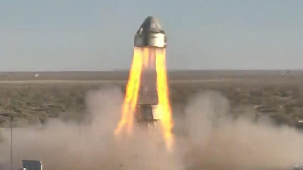 Ruimtecapsule Boeing zweeft kilometers door de lucht na test