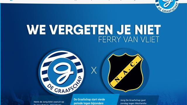 De Graafschap eert Ferry van Vliet vanwege wedstrijd tegen NAC