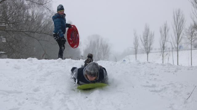 Een winters tafereel in Boxtel.