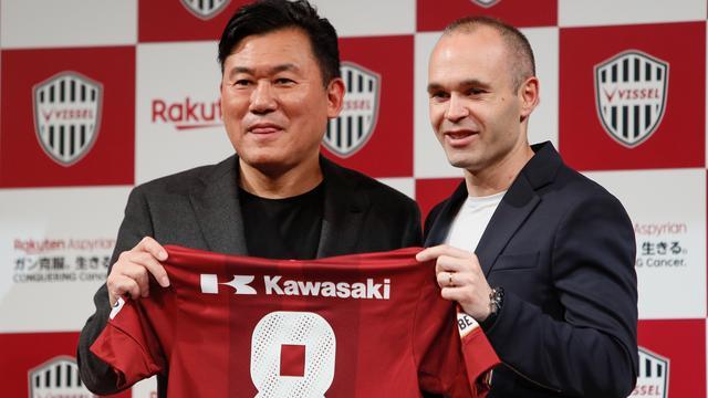 Japanse club Vissel Kobe maakt komst Iniesta officieel