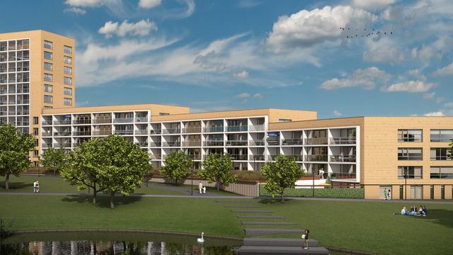 Bouw appartementencomplex Kroon van Noord van start in Leiden