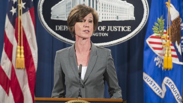Trump ontslaat waarnemend minister Justitie om inreisverbod