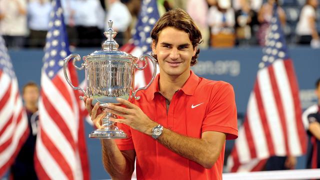 Federer in 2008 met de US Open-titel