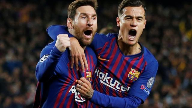Barcelona na eenvoudige zege op Manchester United naar halve finale CL