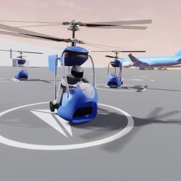 Studenten bouwen elektrische helikopter om over files te vliegen