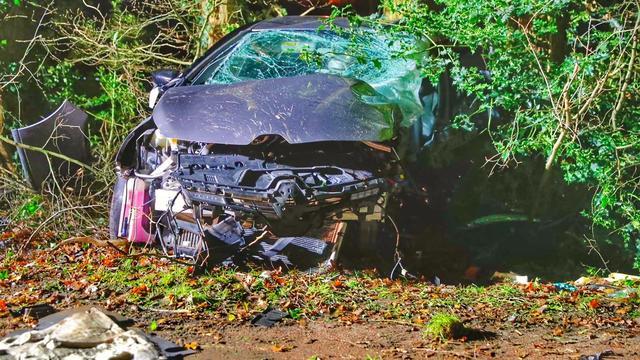 Autodief rijdt tegen boom en overlijdt na politieachtervolging in Riethoven