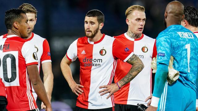Spelers van Feyenoord houden hoop op overwintering in Europa League