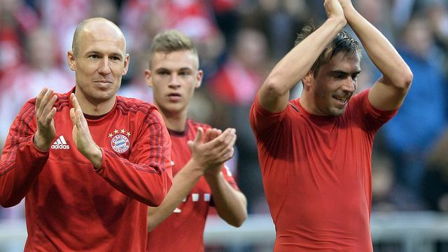 Aanvoerder Lahm hoopt op contractverlenging Robben bij Bayern