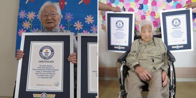107-jarige Japanse zussen uitgeroepen tot oudste tweeling ooit