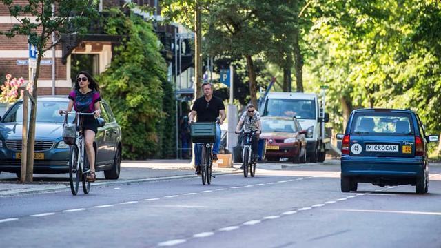 Ruim baan voor fietsers op de Maliesingel