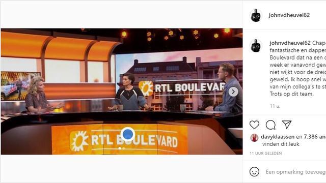 John van den Heuvel schrijft trots te zijn op het team. Foto: Instagram/John van den Heuvel