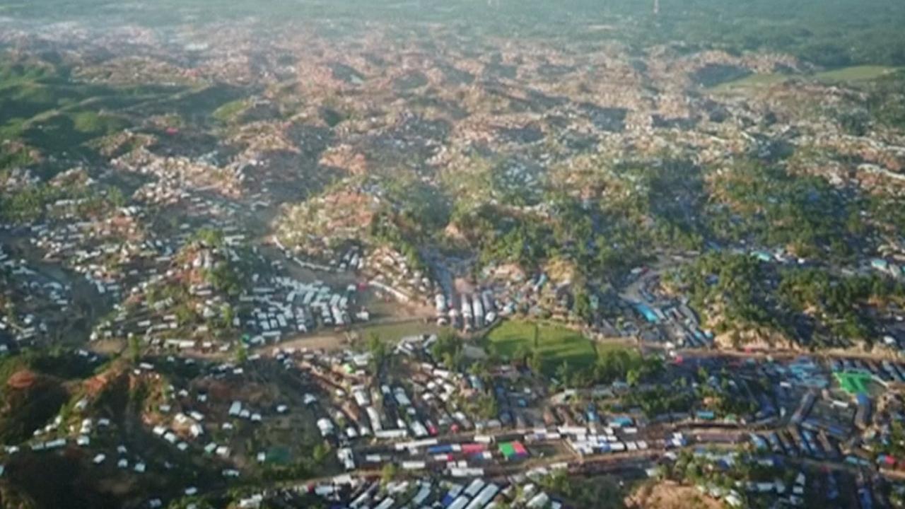 Dronebeelden tonen enorm Rohingya-vluchtelingenkamp in Bangladesh