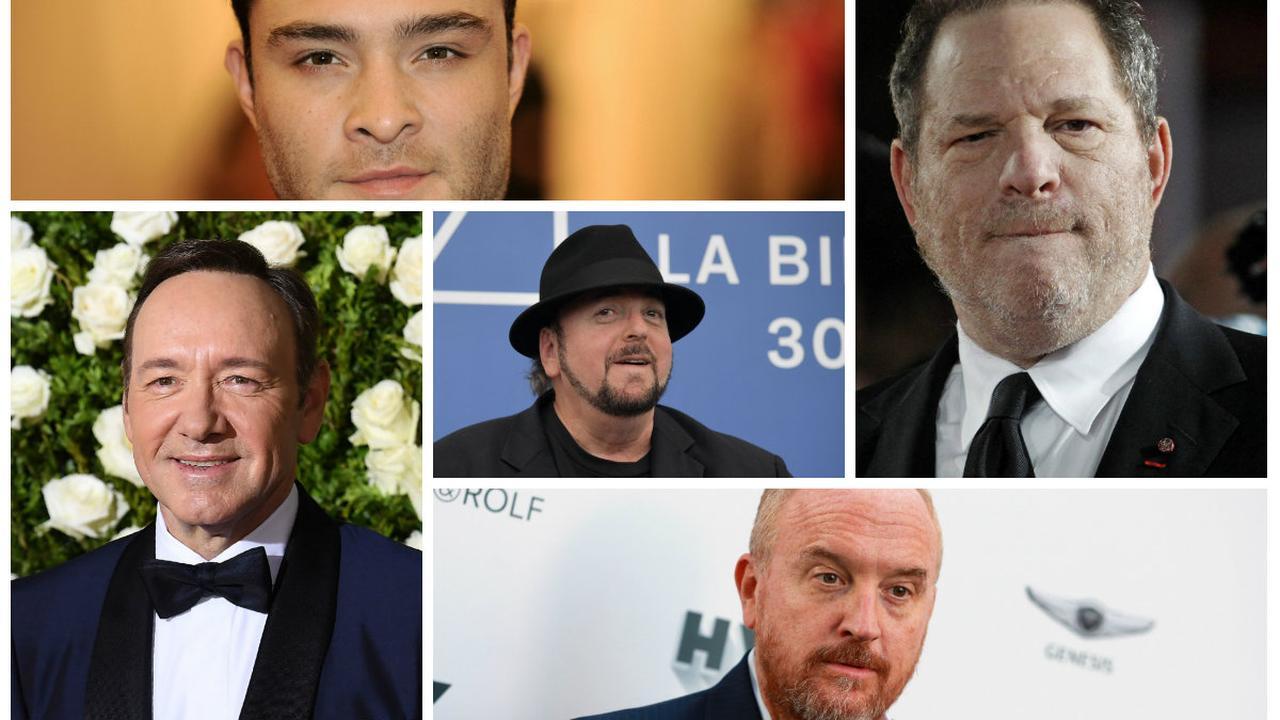 Vijf Hollywoodsterren met een omvangrijk #metoo-dossier