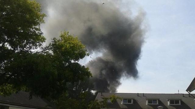 Grote brand bij staalfabriek in Helmond